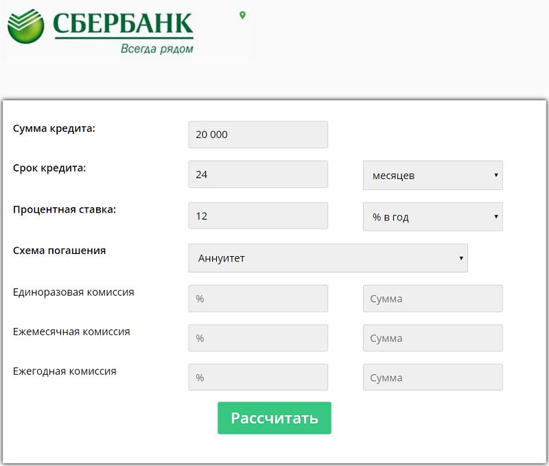 Кредитный калькулятор Сбербанка позволит до копейки рассчитать переплату по кредиту